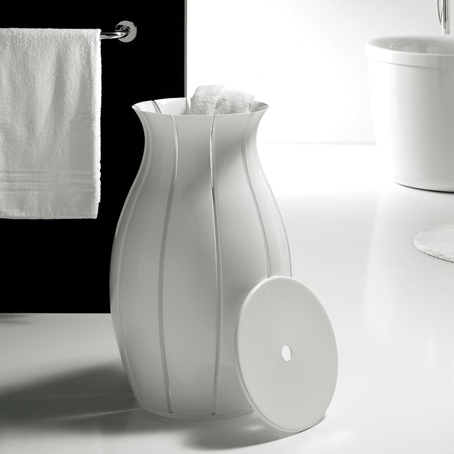 Guzzini Nifea kosz na pranie, biały