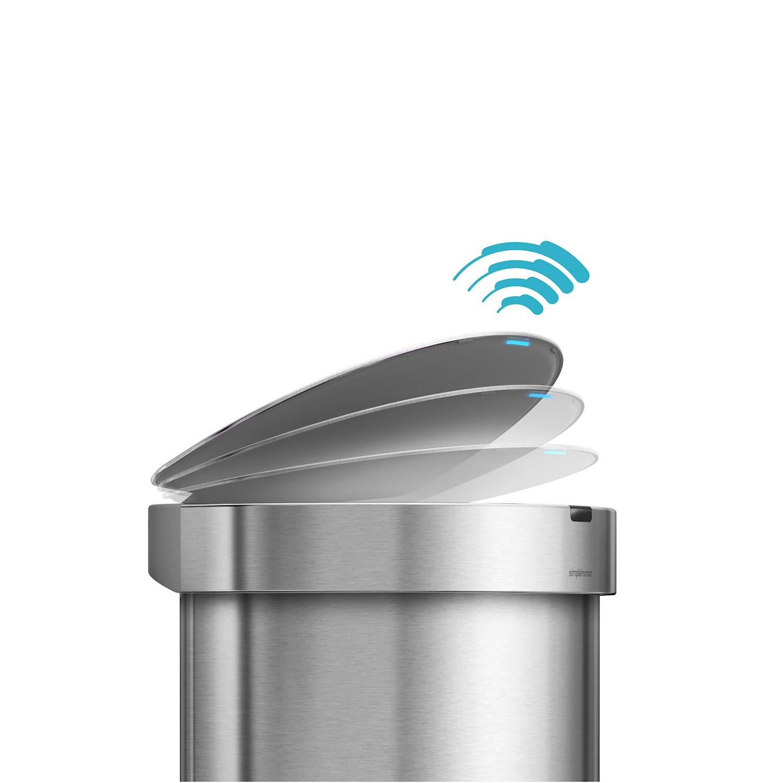 SimpleHuman Sensor Liner Pocket Kosz półokrągły na śmieci
