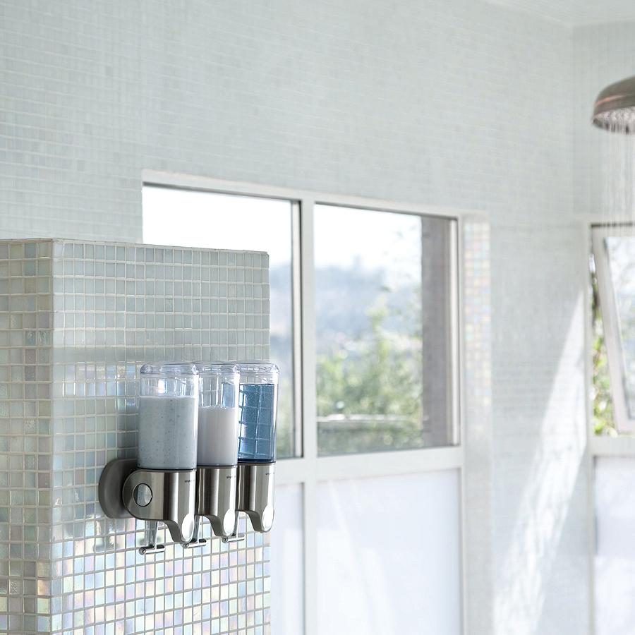 SimpleHuman Dozowniki do płynów pod prysznic 3 szt
