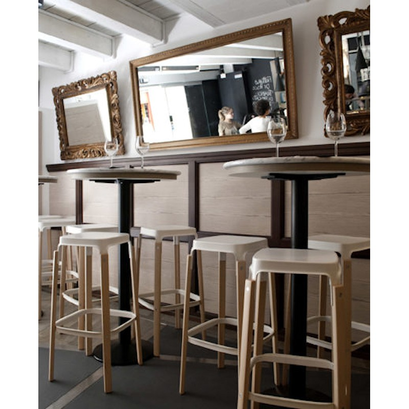 MAGIS Steelwood Stool krzesło barowe, niskie