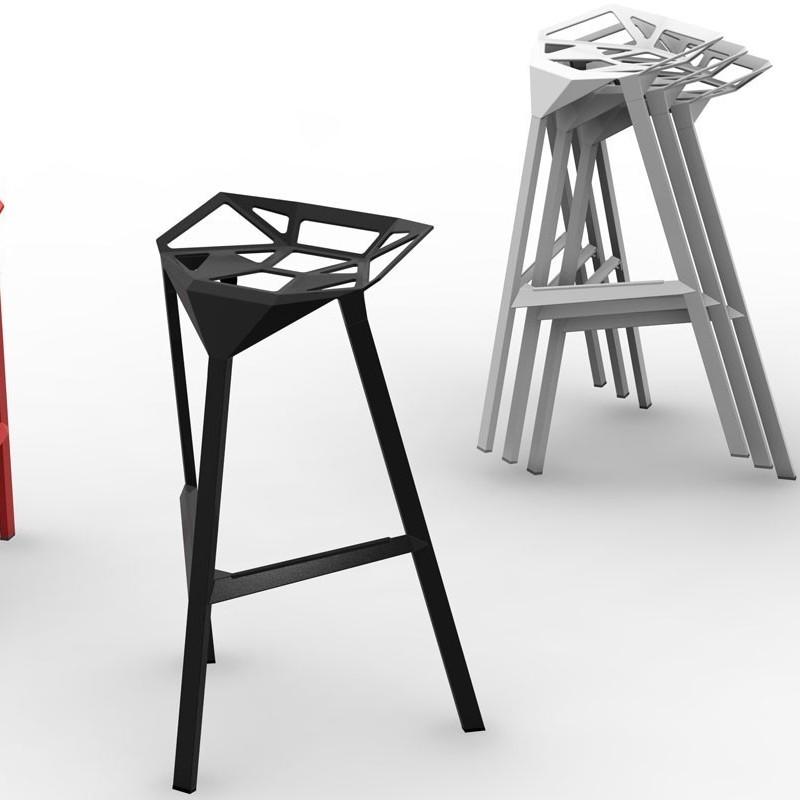 MAGIS Stool One krzesło barowe średnie, kolor czarny