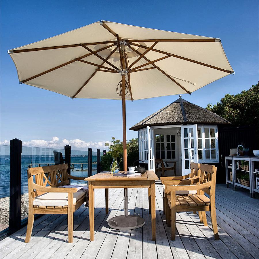 Skagerak Drachmann krzesło ogrodowe, kolor beżowy