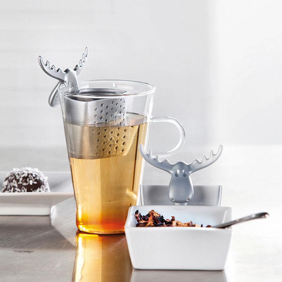 Koziol Rudolf zaparzaczka do herbaty, kolor malinowy
