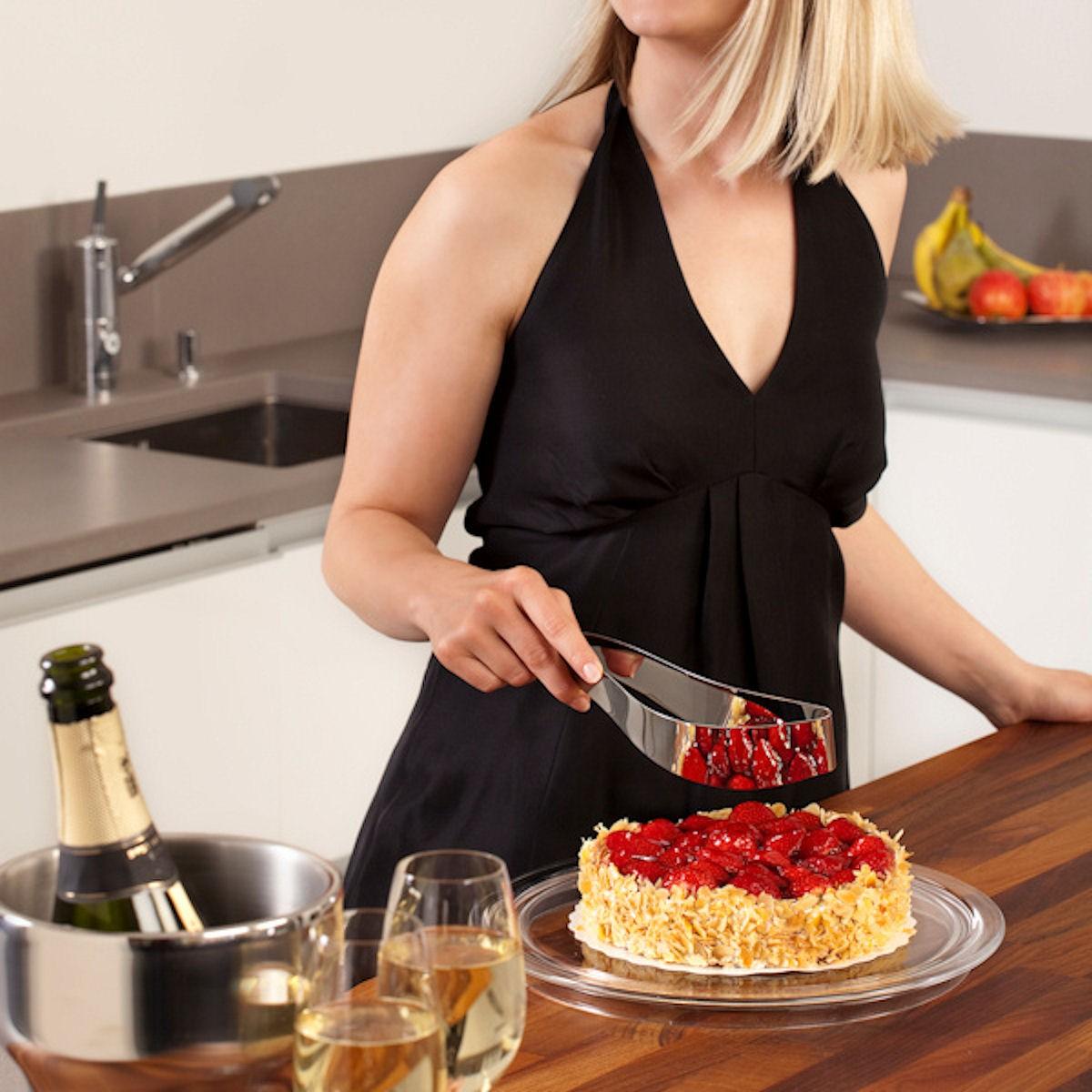 Magisso Cake Server przyrząd do krojenia ciasta, biały