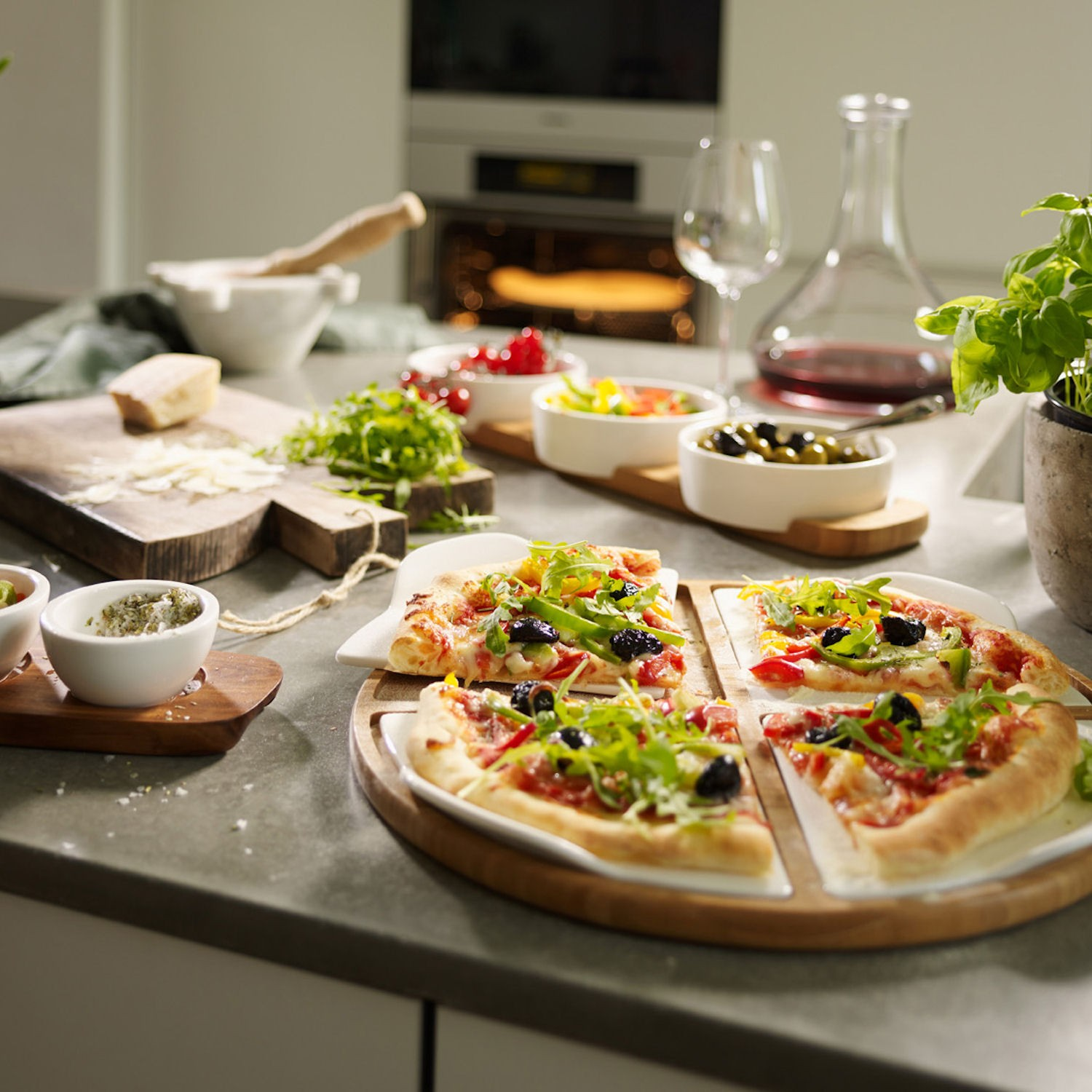 Villeroy & Boch Pizza Passion talerz do pizzy, 4 cz.
