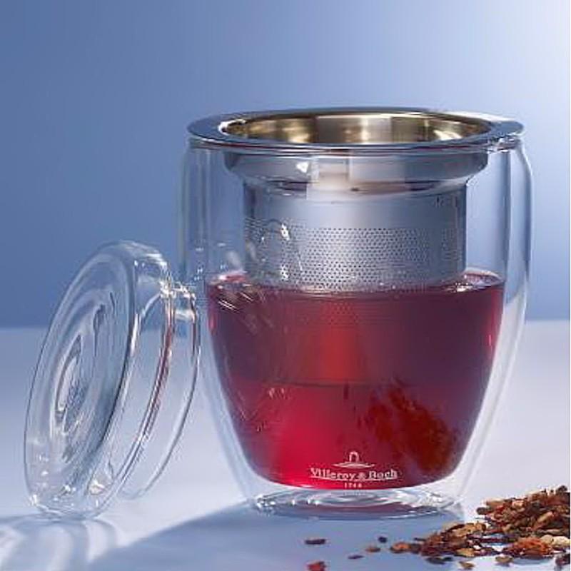 Villeroy & Boch Tea Time kubek z zaparzaczem i pokrywką