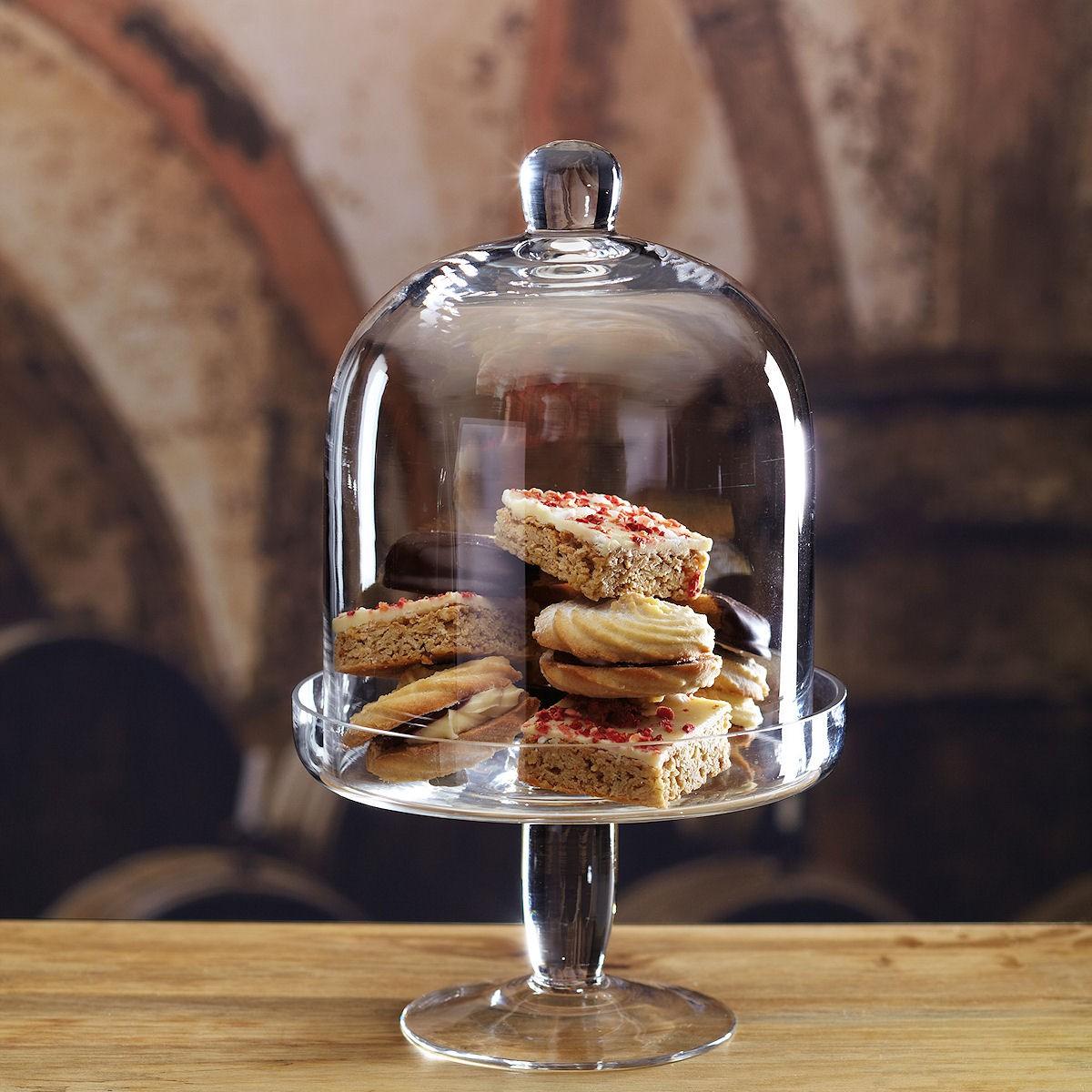 Kitchen Craft Artesa patera szklana z kloszem