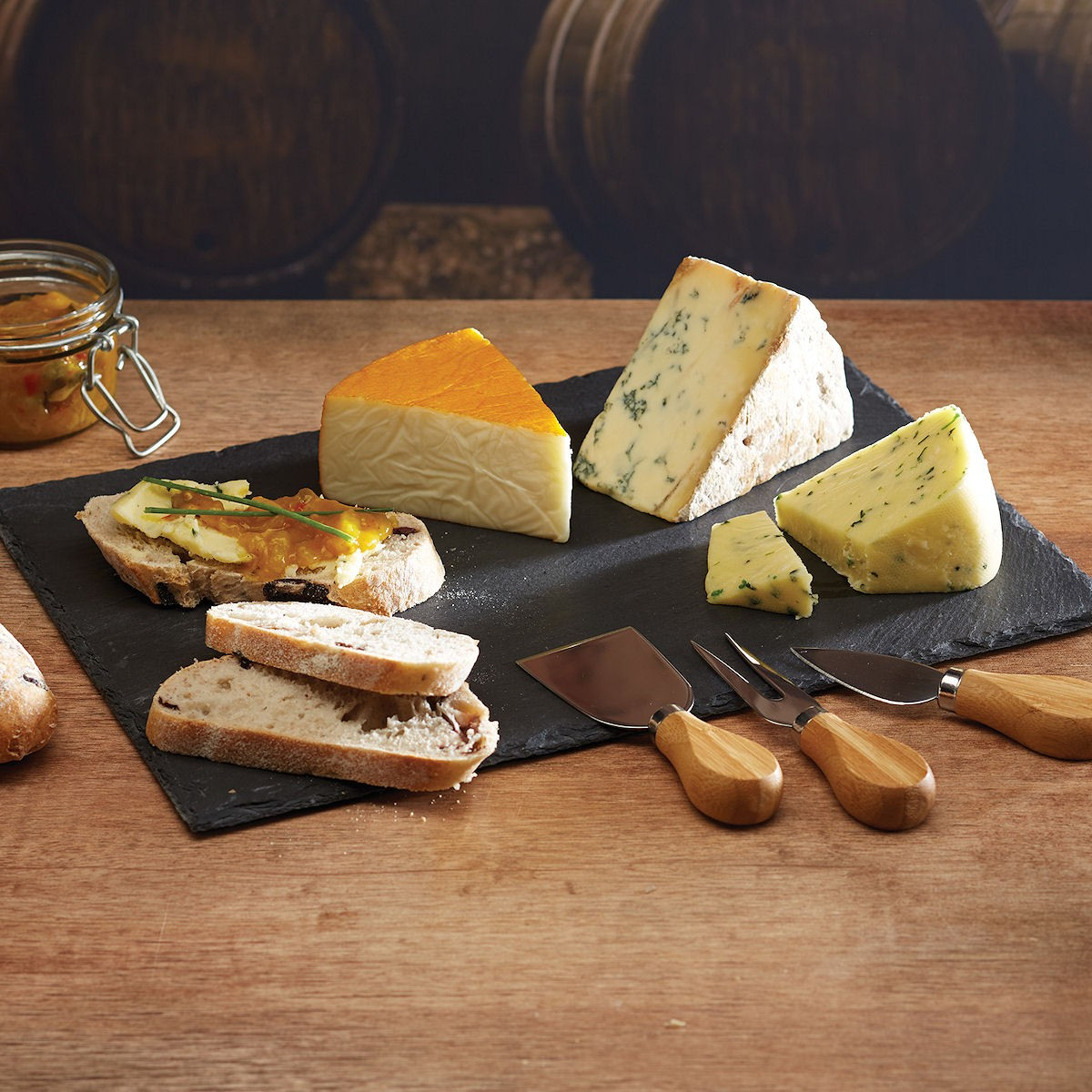 Kitchen Craft Deska do serów ze sztućcami