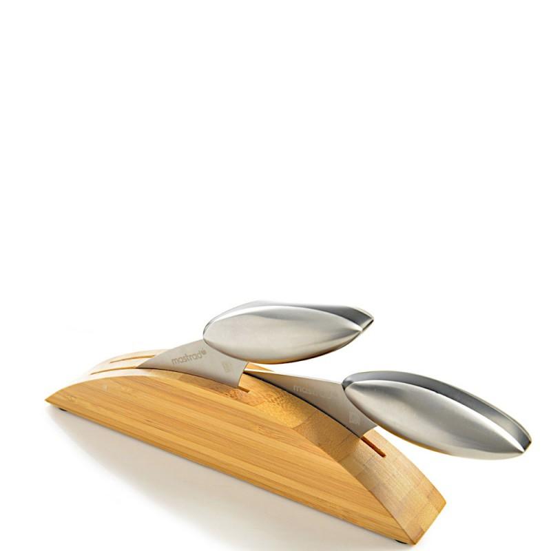 Mastrad Zestaw 2 stalowych noży do szatkowania