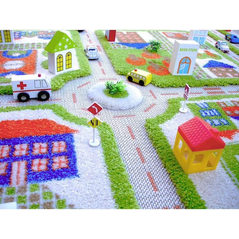 IVI Carpets Miasto zabaw Dywan 3D - zielony