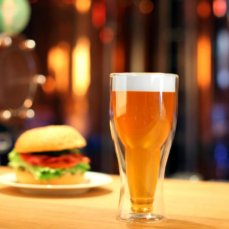 Vialli Design Amo szklanka do piwa z podwójną ścianką