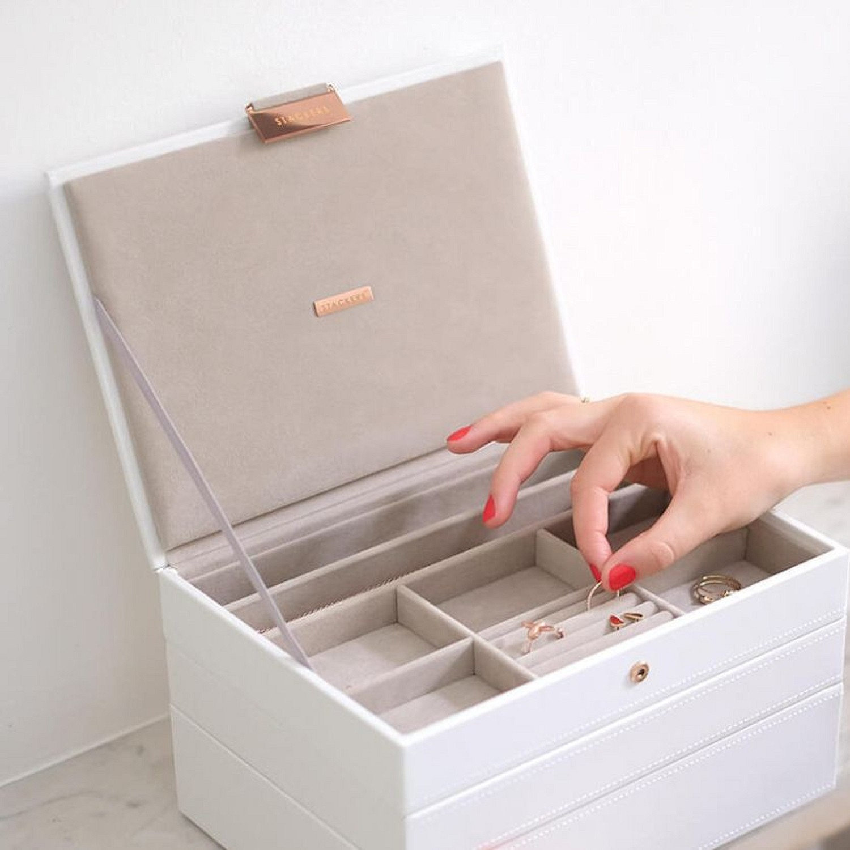 Stackers Classic Pudełko na biżuterię z pokrywką, edycja Rose Gold