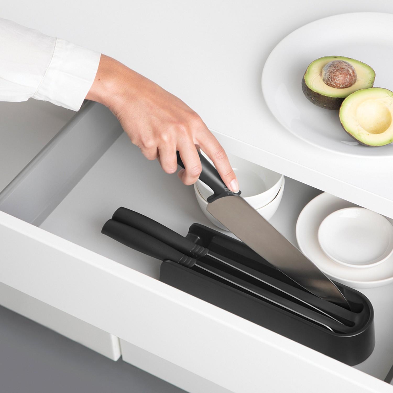 Brabantia Tasty Zestaw noży w bloku do szuflady