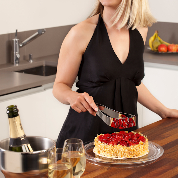 Magisso Cake Server przyrząd do krojenia ciasta, stal nierdzewna