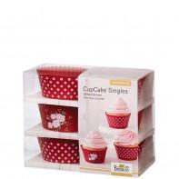 Birkmann La vie en rose foremki na cupcakes 6szt
