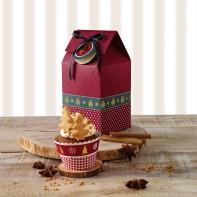 Birkmann Christmas pudełko prezentowe na 1 cupcake 2 szt