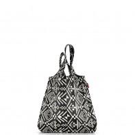 Mini maxi shopper pojemność 15l torba na zakupy, hopi black AT7034