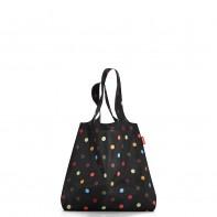Mini maxi shopper pojemność 15l torba na zakupy, dots AT7009