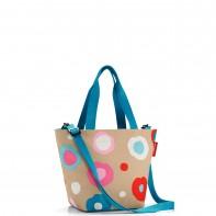 Shopper XS pojemność 4l torba na zakupy, funky dots1 ZR6034