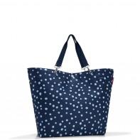 Shopper XL pojemność 35l torba na zakupy, spots navy RZU4044