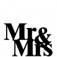 DekoSign Mr & Mrs napis dekoracyjny