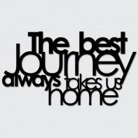 DekoSign The best journey always takes us home Napis dekoracyjny