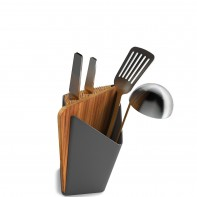 Forminimal Utensil holder pojemnik na narz�dzia kuchenne + blok na no�e z desk�