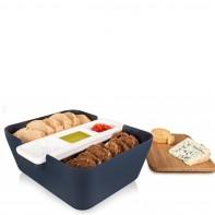Bread & Dip Denim wysokość 10,5cm chlebak z pojemnikami na dip TK-27104603