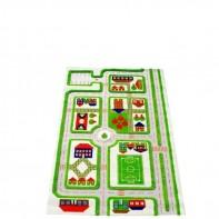 Miasto zabaw długość 150cm Dywan 3D - zielony 121MD033YE10153