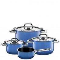 Nature Blue  zestaw garnków z rondlem, 4 części 2109299523