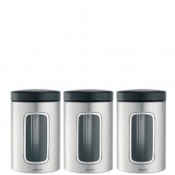 Brabantia Storage Brabantia komplet 3 pojemników kuchennych stal matowa FPP