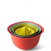 Brabantia Tasty Colours misy kuchenne w zestawie z durszlakiem i wyciskarką