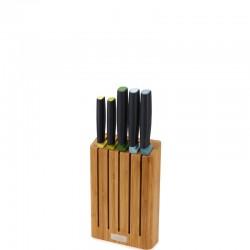 Joseph Joseph ELEVATE Bambusowy blok z 5 nożami