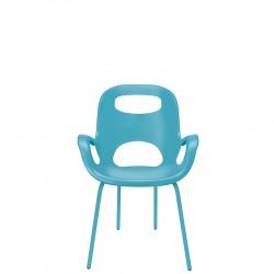UMBRA OH krzesło z oparciem, kolor błękitny