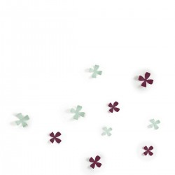 UMBRA Wallflower dekoracja ścienna, 10 elementów