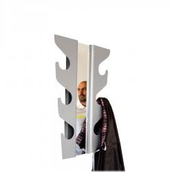 Wave wieszak na ubrania z lustrem, czarny