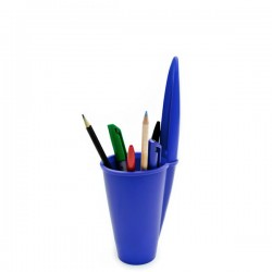 Pen Lid pojemnik na długopisy i ołówki, kolor niebieski