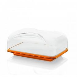 Guzzini Gocce pojemnik do sera prostokątny, pomarańczowy