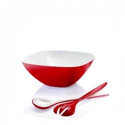 Guzzini Vintage komplet sałatkowy, czerwony