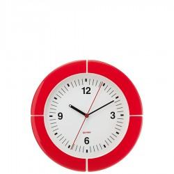 Guzzini I-Clock zegar ścienny, czerwony