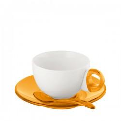 Guzzini Art & Cafe filiżanki 2 szt, pomarańczowy