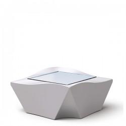Slide Kami Ni stół, kolor biały lakierowany