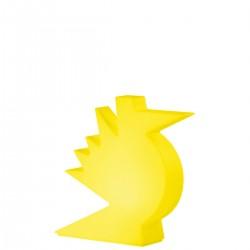 Slide Here lampa stołowa, kolor żółty