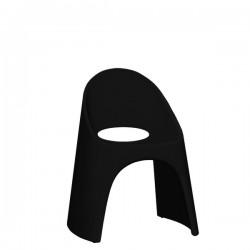 Slide Amelie krzesło w kolorze czarnym