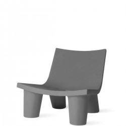 Slide Low Lita krzesło w kolorze szarym