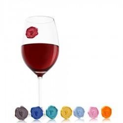 Vacu Vin Classic Grapes znaczniki do szklanek i kieliszków, 8 szt