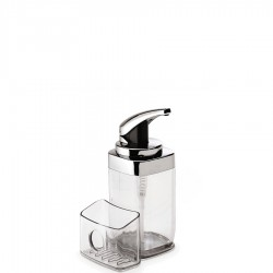 Dozownik do mydła z pojemnikiem na gąbkę