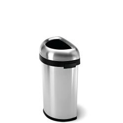 Simple Human Bullet Open Kosz na śmieci, półokrągły