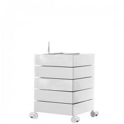 360 Container podręczna szafka z pięcioma szufladami, kolor biały