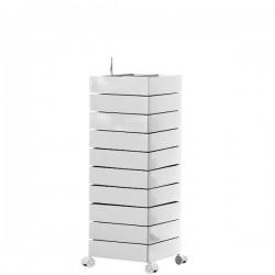 360 Container podręczna szafka z szufladami, kolor biały
